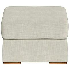 Debenhams - Brushed cotton 'Jackson' footstool