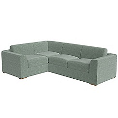 Debenhams - Large chenille 'Jackson' left-hand facing corner sofa end