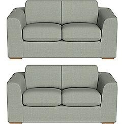 Debenhams - Set of two 2 seater textured fabric 'Jackson' sofas