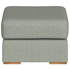Debenhams - Textured fabric 'Jackson' footstool