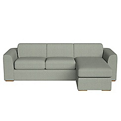 Debenhams - Textured fabric 'Jackson' right-hand facing chaise corner sofa