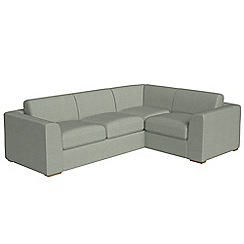 Debenhams - Large textured fabric 'Jackson' right-hand facing corner sofa end