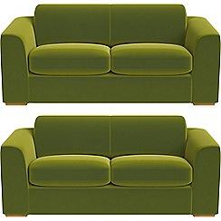 Debenhams - Set of two 3 seater velvet 'Jackson' sofas