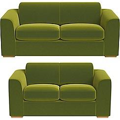 Debenhams - 3 seater and 2 seater velvet 'Jackson' sofas