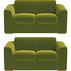 Debenhams - Set of two 2 seater velvet 'Jackson' sofas