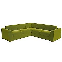 Debenhams - Large velvet 'Jackson' corner sofa