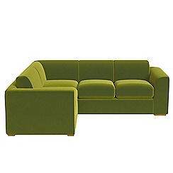 Debenhams - Medium velvet 'Jackson' left-hand facing corner sofa end