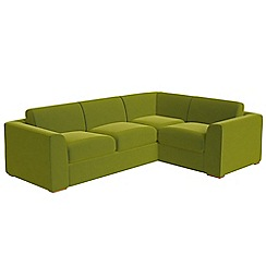 Debenhams - Large velvet 'Jackson' right-hand facing corner sofa end