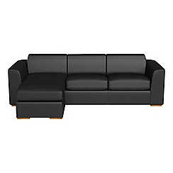 Debenhams - Luxury leather 'Jackson' left-hand facing chaise corner sofa