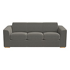 Debenhams - 4 seater natural grain leather 'Jackson' sofa