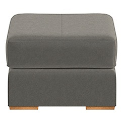 Debenhams - Natural grain leather 'Jackson' footstool