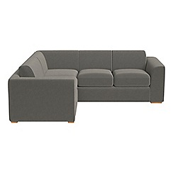 Debenhams - Medium natural grain leather 'Jackson' left-hand facing corner sofa end