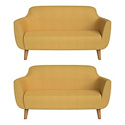 Ben de Lisi Home - Set of two 2 seater tweedy weave 'Marco' sofas
