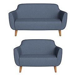 Ben de Lisi Home - 2 seater and compact flat weave fabric 'Marco' sofas