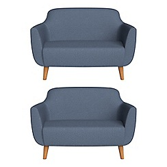 Ben de Lisi Home - Set of two compact flat weave fabric 'Marco' sofas