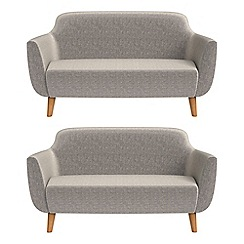 Ben de Lisi Home - Set of two 2 seater chenille 'Marco' sofas