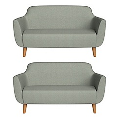 Ben de Lisi Home - Set of two 2 seater textured weave 'Marco' sofas