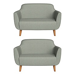 Ben de Lisi Home - Set of two compact textured weave 'Marco' sofas