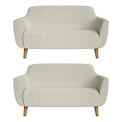 Ben de Lisi Home - Set of two 2 seater brushed cotton 'Marco' sofas