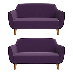 Ben de Lisi Home - Set of two 2 seater velvet 'Marco' sofas