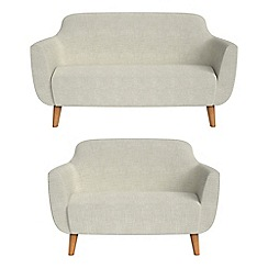 Ben de Lisi Home - 2 seater and compact brushed cotton 'Marco' sofas