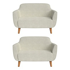 Ben de Lisi Home - Set of two compact brushed cotton 'Marco' sofas