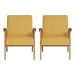Debenhams - Set of 2 tweedy fabric 'Kempton' armchairs