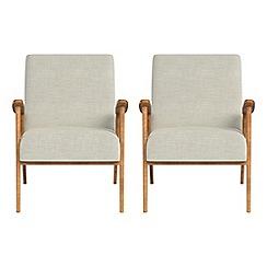 Debenhams - Set of 2 brushed cotton 'Kempton' armchairs