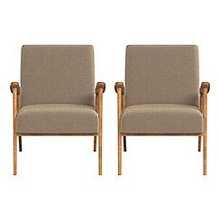 Debenhams - Set of 2 chenille 'Kempton' armchairs