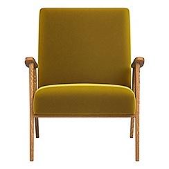 Debenhams - Velvet 'Kempton' armchair