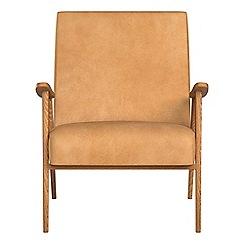 Debenhams - Natural grain leather 'Kempton' armchair