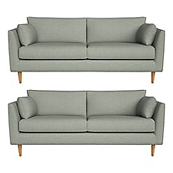 RJR.John Rocha - Set of two 3 seater textured weave 'Ravello' sofas