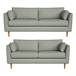 RJR.John Rocha - 3 seater and 2 seater textured weave 'Ravello' sofas
