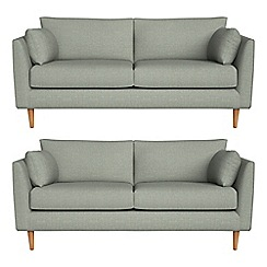 RJR.John Rocha - Set of two 2 seater textured weave 'Ravello' sofas