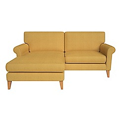 Debenhams - Tweedy fabric 'Arlo' chaise corner sofa