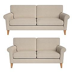 Debenhams - 3 seater and 2 seater tweedy fabric 'Arlo' sofas