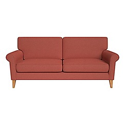 Debenhams - 3 seater flat weave fabric 'Arlo' sofa