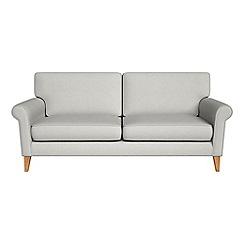 Debenhams - 3 seater flat weave fabric 'Arlo' sofa