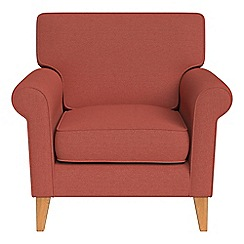 Debenhams - Flat weave fabric 'Arlo' armchair