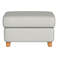 Debenhams - Flat weave fabric 'Arlo' storage footstool