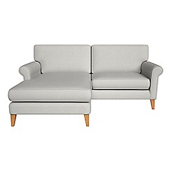 Debenhams - Flat weave fabric 'Arlo' chaise corner sofa