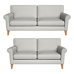 Debenhams - 3 seater and 2 seater flat weave fabric 'Arlo' sofas