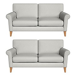 Debenhams - Set of two 2 seater flat weave fabric 'Arlo' sofas