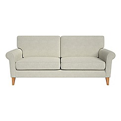 Debenhams - 3 seater brushed cotton 'Arlo' sofa