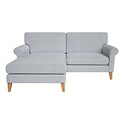 Debenhams - Brushed cotton 'Arlo' chaise corner sofa