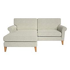 Debenhams - Brushed cotton 'Arlo' chaise corner sofa