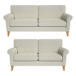 Debenhams - 3 seater and 2 seater brushed cotton 'Arlo' sofas