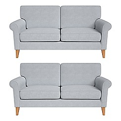 Debenhams - Set of two 2 seater brushed cotton 'Arlo' sofas