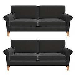Debenhams - Set of two 3 seater chenille 'Arlo' sofas
