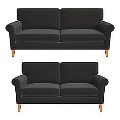Debenhams - 3 seater and 2 seater chenille 'Arlo' sofas